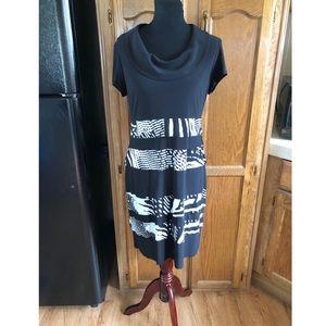 Joseph Ribkoff Cowl Neck Dress Size 12